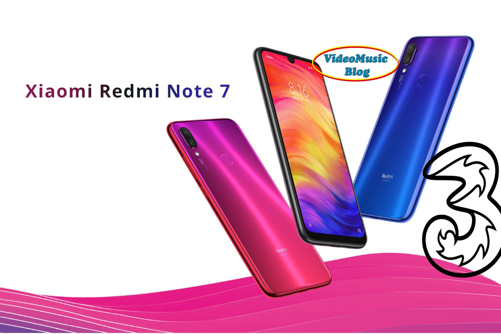 Xiaomi Redmi Note 7 + 100 GB a 11.99€  al mese, offerta Tre.